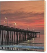 Outer Banks Sunrise Wood Print by John Greim