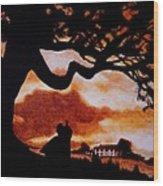 Overlooking Tara At Sunset Wood Print by Al  Molina