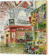 Oxford's Covered Market Wood Print by Mike Lester
