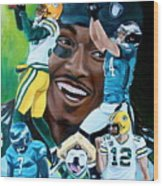 Packers  Glorious Moments Wood Print by Dawn Graham