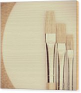 Painting Tools Wood Print by Wim Lanclus