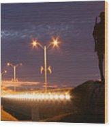 Palatka Memorial Bridge Doughboy Wood Print by Angie Bechanan