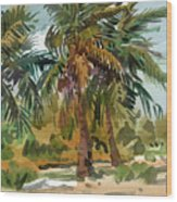 Palms In Key West Wood Print by Donald Maier