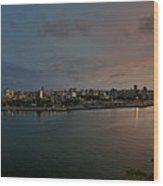 Panoramic View Of Havana From La Cabana. Cuba Wood Print by Juan Carlos Ferro Duque