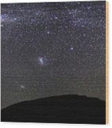 Panoramic View Of The Milky Way Wood Print by Luis Argerich