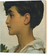 Paolo Wood Print by Frederic Leighton