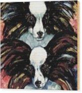 Papillon De Mardi Gras Wood Print by Kathleen Sepulveda