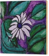 Paradise Flower Wood Print by Marsha Heiken