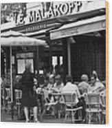 Paris Street Cafe - Le Malakoff Wood Print by Georgia Fowler