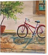 Parked In The Courtyard Wood Print by John Williams
