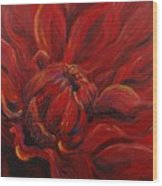 Passion II Wood Print by Nadine Rippelmeyer