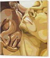 Passion Wood Print by Lamark Crosby