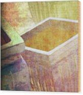 Pastel Pottery Wood Print by Susanne Van Hulst
