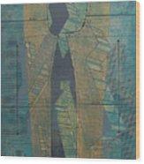 Patterns Series Number Seven Wood Print by Sonja Olson