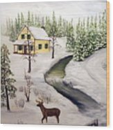 Peaceful Winter Day Wood Print by Timothy Smith