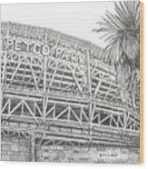 Petco Park Wood Print by Juliana Dube