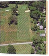 Philadelphia Cricket Club St Martins Golf Course 1st Hole 415 W Willow Grove Avenue Phila Pa 19118 Wood Print by Duncan Pearson