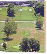 Philadelphia Cricket Club St Martins Golf Course 9th Hole 415 W Willow Grove Ave Phila Pa 19118 Wood Print by Duncan Pearson