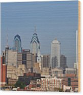 Philadelphia Standing Tall Wood Print by Simon Wolter