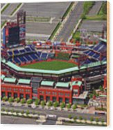 Phillies Citizens Bank Park Wood Print by Duncan Pearson