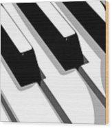 Piano Keyboard Wood Print by Michael Tompsett