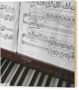 Piano Keys Wood Print by Carlos Caetano