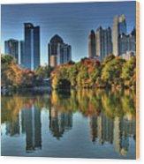 Piedmont Park Atlanta City View Wood Print by Corky Willis Atlanta Photography
