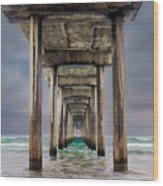 Pier Wood Print by Doug Oglesby