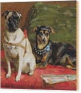 Pierette And Mifs Wood Print by Charles van den Eycken