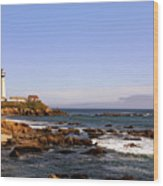Pigeon Point Lighthouse Ca Wood Print by Christine Till