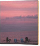 Pink And Deserted Wood Print by Karol Livote