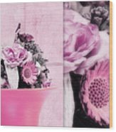 Pink Wood Print by Angela Doelling AD DESIGN Photo and PhotoArt