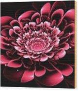 Pink Flower Wood Print by Anastasiya Malakhova