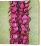 Pink Plumeria Lei Wood Print by Jade Moon