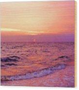 Pink Sunrise Wood Print by Kristin Elmquist