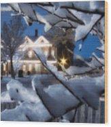Pioneer Inn At Christmas Time Wood Print by Utah Images