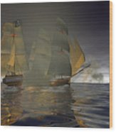 Pirate Attack Wood Print by Carol and Mike Werner