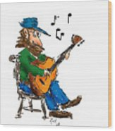 Playing Fer Fun Wood Print by Ross Powell