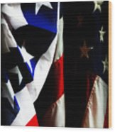 Pledge To The Usa Wood Print by Susie Weaver
