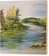 Plein Air At Grand Beach Lagoon Wood Print by Joanne Smoley
