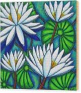 Pond Jewels Wood Print by Lisa  Lorenz