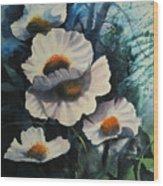 Poppies Wood Print by Robert Carver