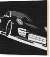 Porsche 911 Gt2 Night Wood Print by Michael Tompsett
