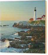 Portland Head Light No. 2  Wood Print by Jon Holiday