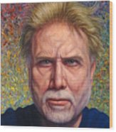 Portrait Of A Serious Artist Wood Print by James W Johnson