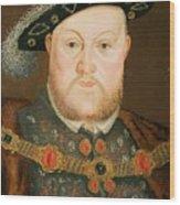 Portrait Of Henry Viii Wood Print by English School