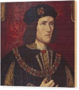 Portrait Of King Richard IIi Wood Print by English School
