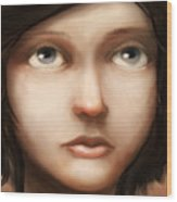Portrait Of Vela Wood Print by Ethan Harris