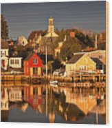 Portsmouth Reflections Wood Print by Susan Cole Kelly