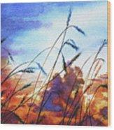Prairie Sky Wood Print by Hanne Lore Koehler